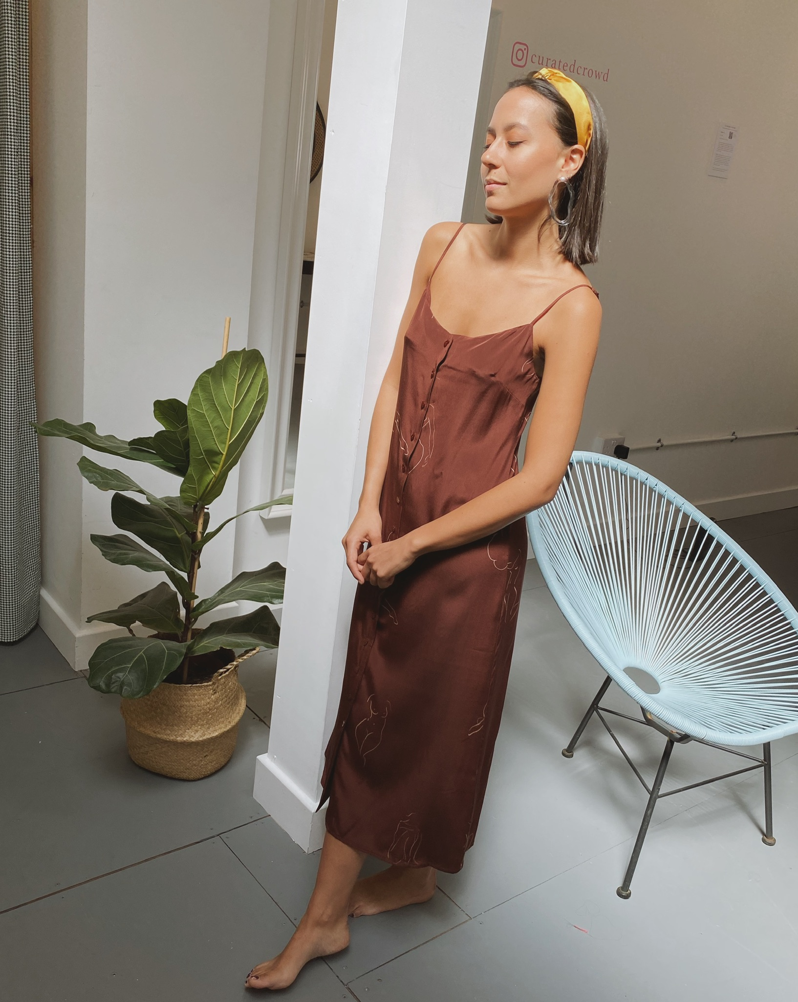 Pura Dress - Brown by Laika on curated-crowd.com