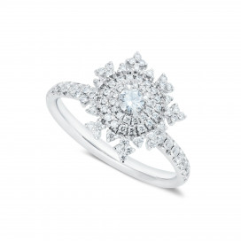 Petite Tsarina White Ring by Nadine Aysoy on curated-crowd.com