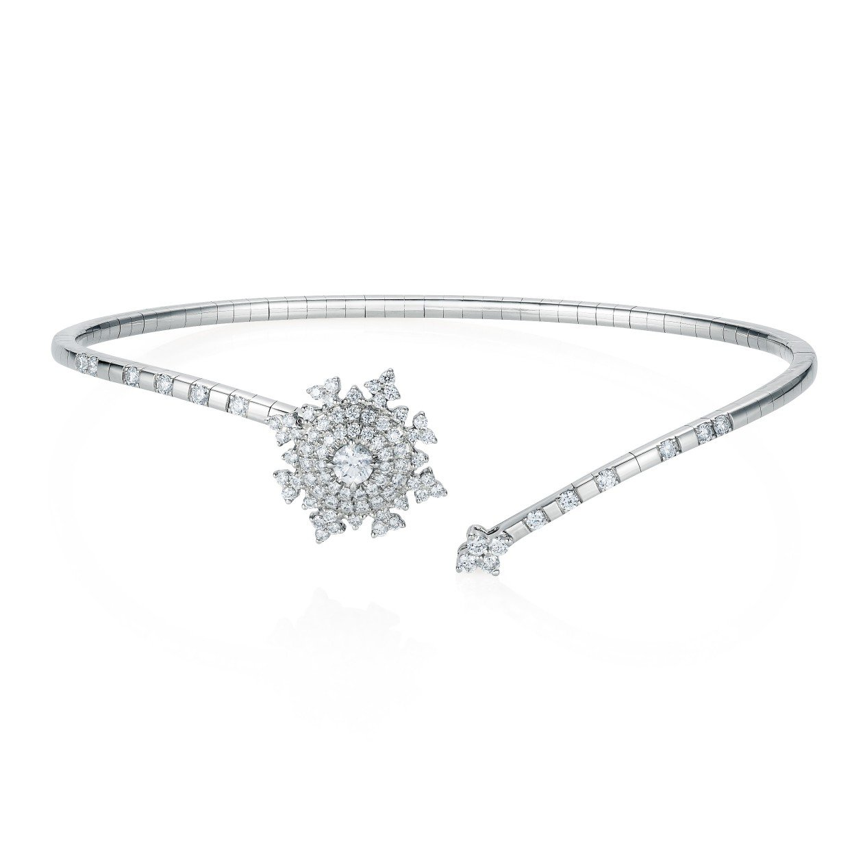 Petite Tsarina White Bracelet by Nadine Aysoy on curated-crowd.com