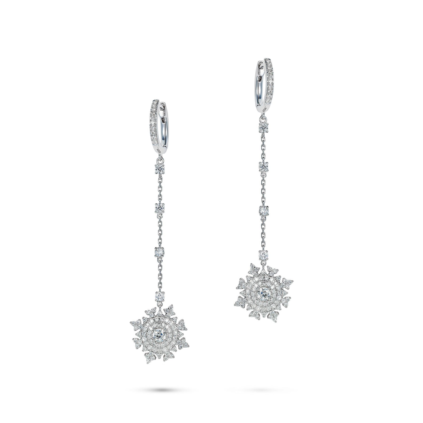 Petite Tsarina White Huggie Earrings by Nadine Aysoy on curated-crowd.com