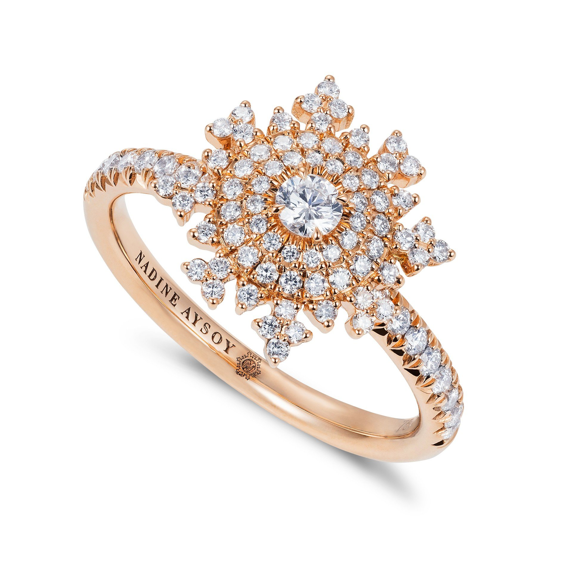 Petite Tsarina Rose Ring by Nadine Aysoy on curated-crowd.com
