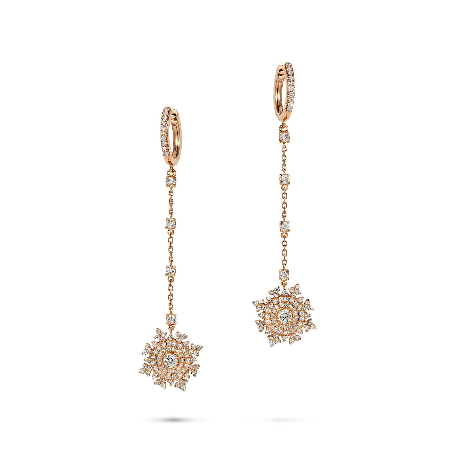 Petite Tsarina Rose Huggie Earrings by Nadine Aysoy on curated-crowd.com