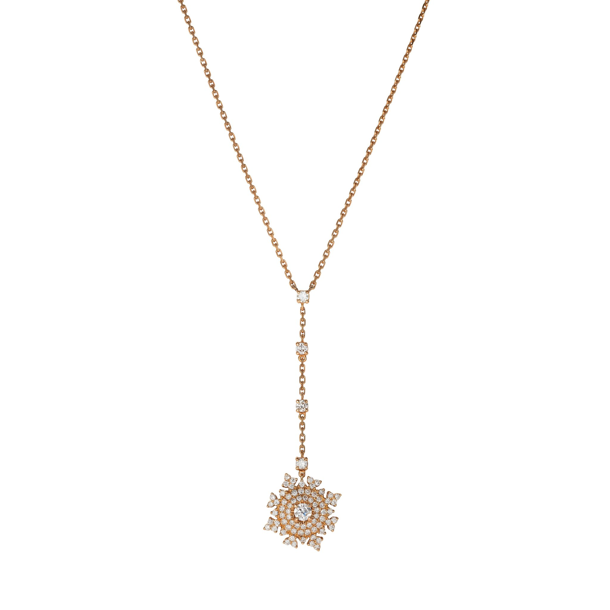 Petite Tsarina Rose Long Necklace by Nadine Aysoy on curated-crowd.com