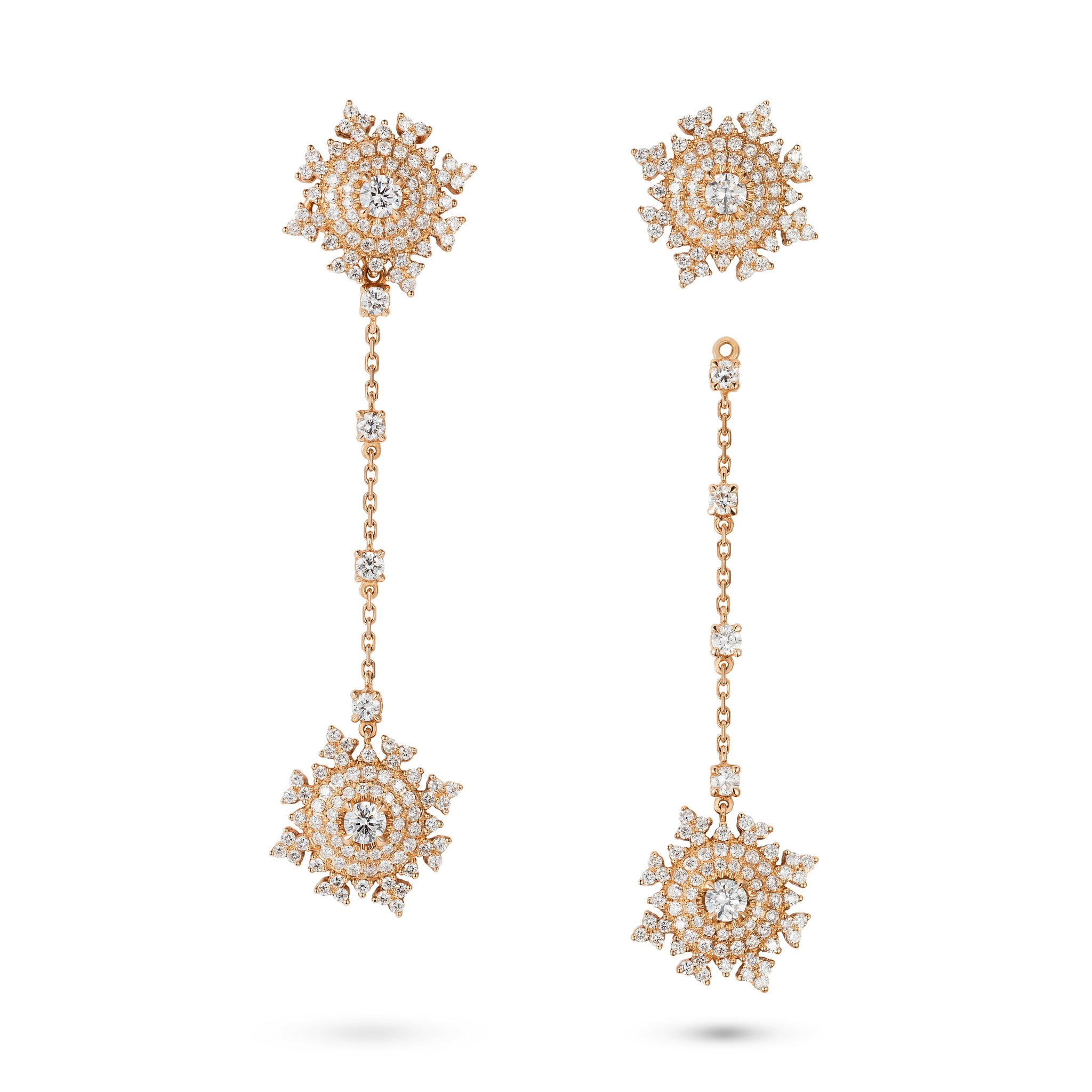Petite Tsarina Rose Pendant Earrings by Nadine Aysoy on curated-crowd.com