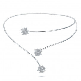 Petite Tsarina White Double Choker by Nadine Aysoy on curated-crowd.com
