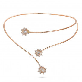 Petite Tsarina Rose Double Choker by Nadine Aysoy on curated-crowd.com