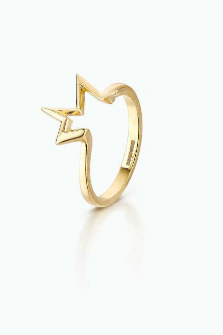 Titanium Salute Stacking Ring in 18K gold by LeSter on curated-crowd.com