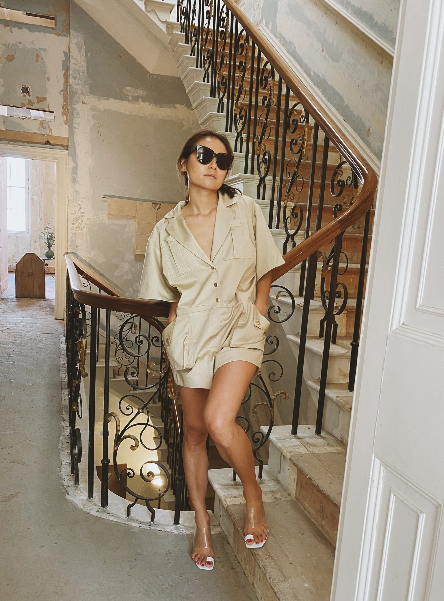 Alef Playsuit - Beige by Jessica K on curated-crowd.com