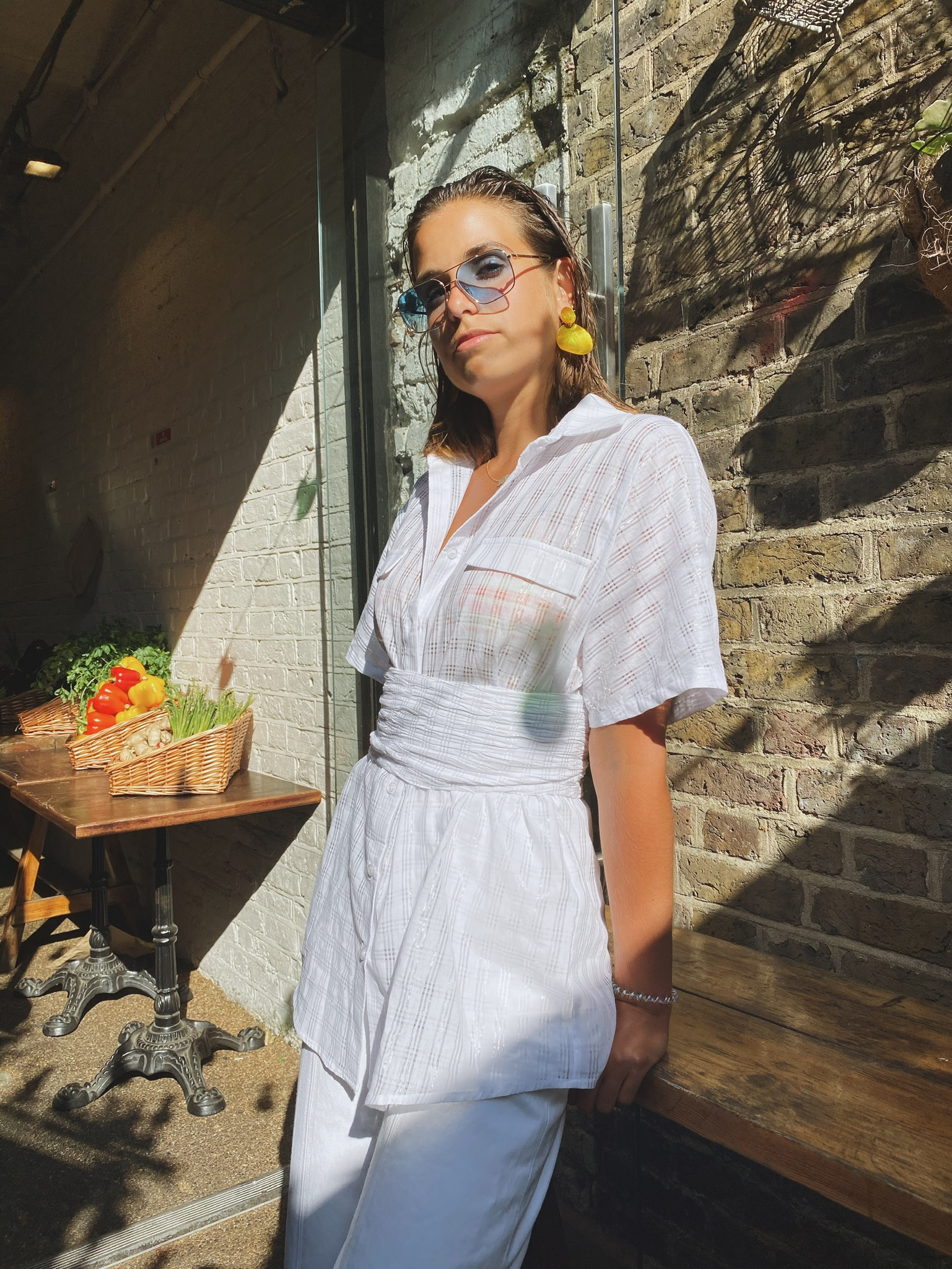 Tillie Shirt - Voile White by Jessica K on curated-crowd.com