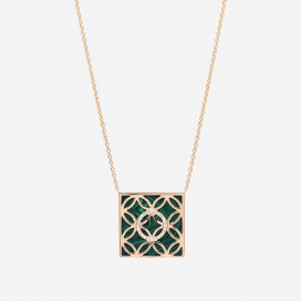 Square Malachite Necklace by Amira Karaouli on curated-crowd.com