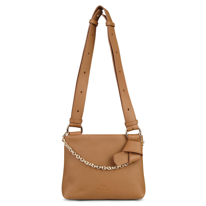 Mini Mayfair Shoulder Bag - Tan by Esin Akan on curated-crowd.com