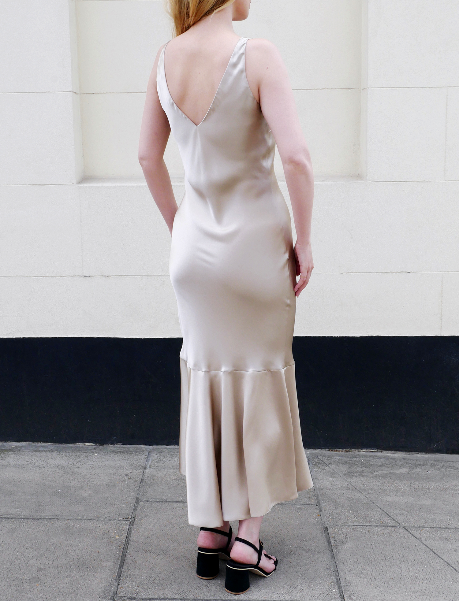 Serena Silk Slip Dress - Oyster by Laura Ironside on curated-crowd.com