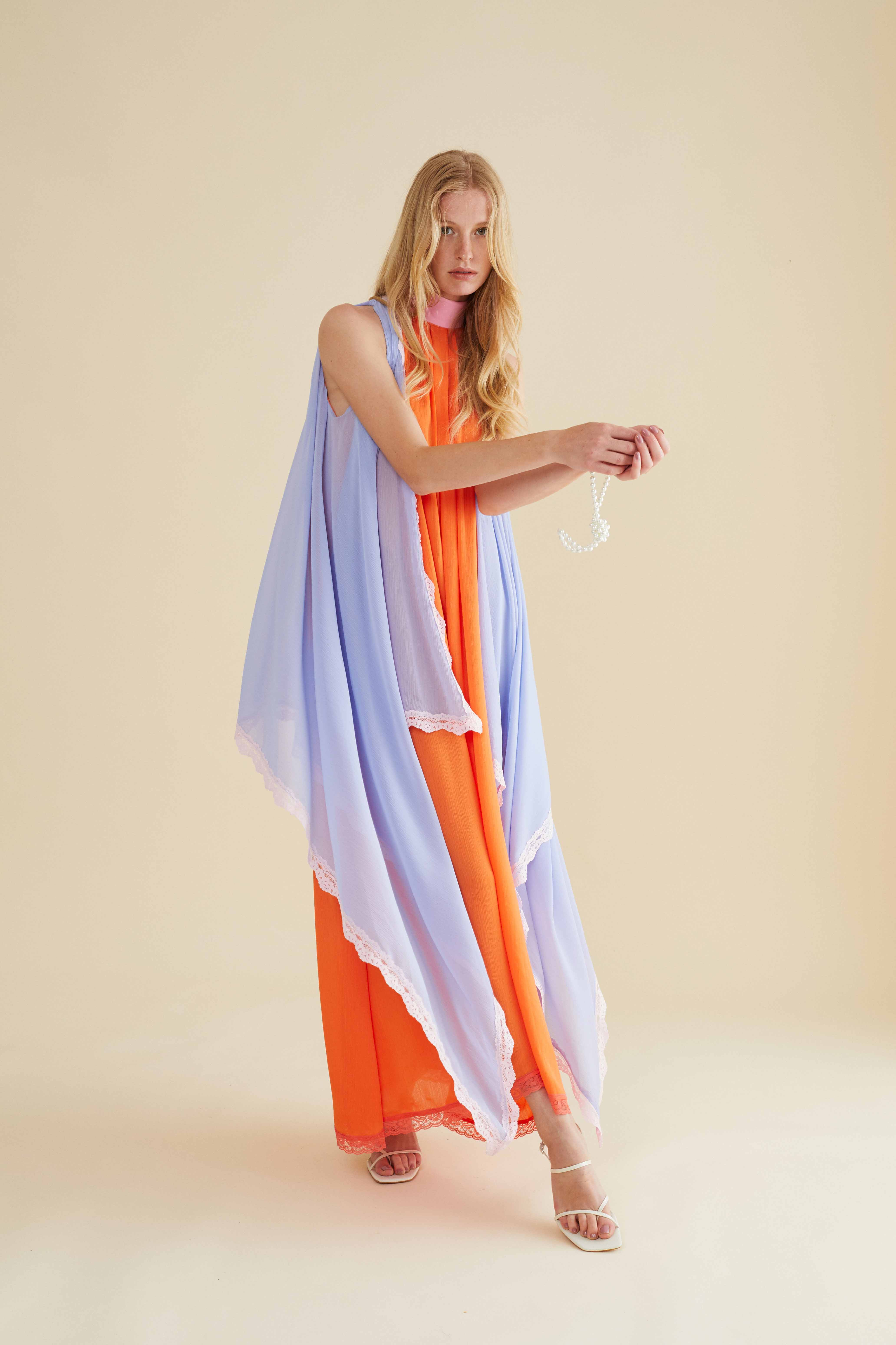 Feria Dress - Orange and Pink by Berta Cabestany on curated-crowd.com