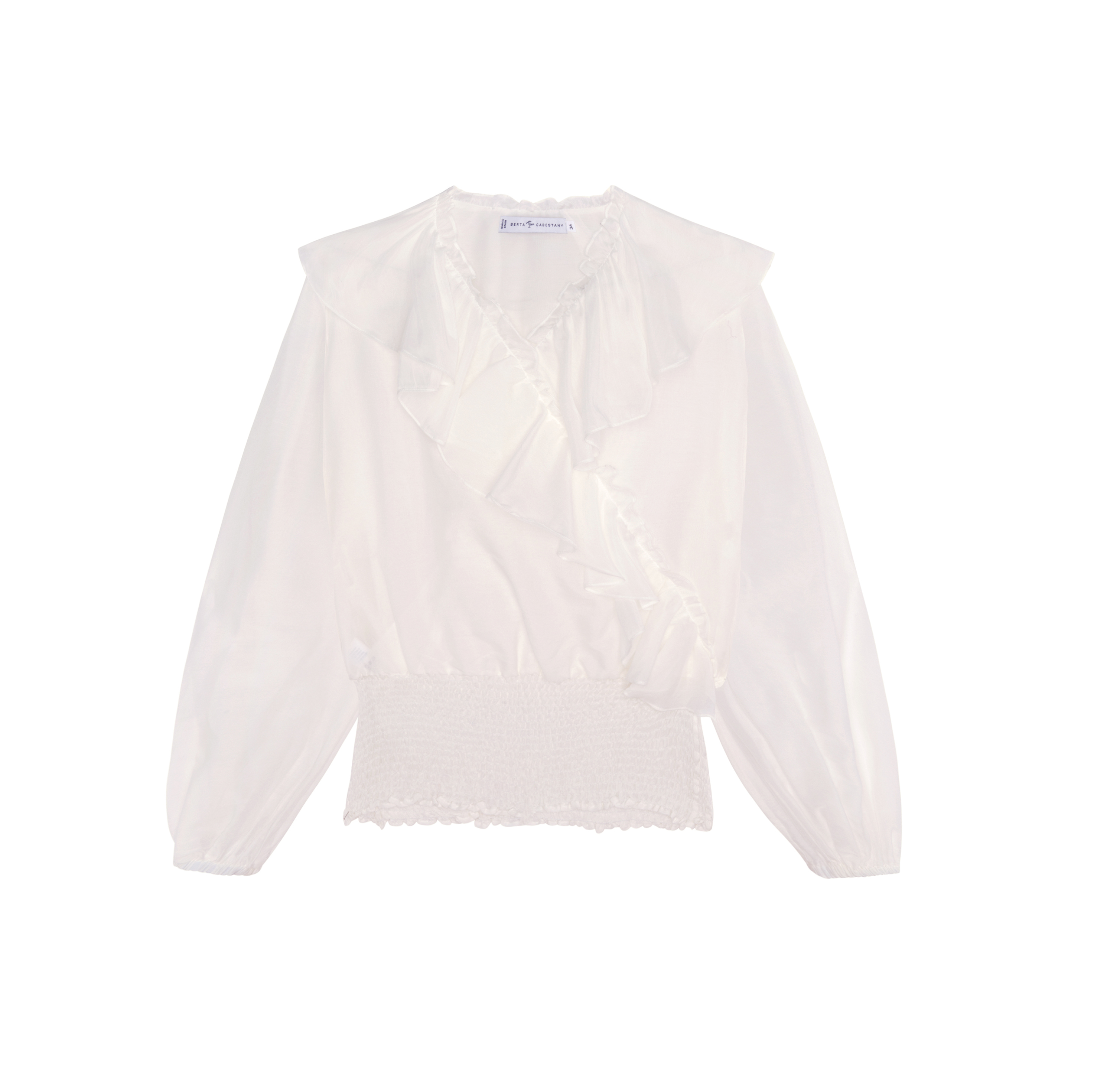 Rita Blouse - White by Berta Cabestany on curated-crowd.com