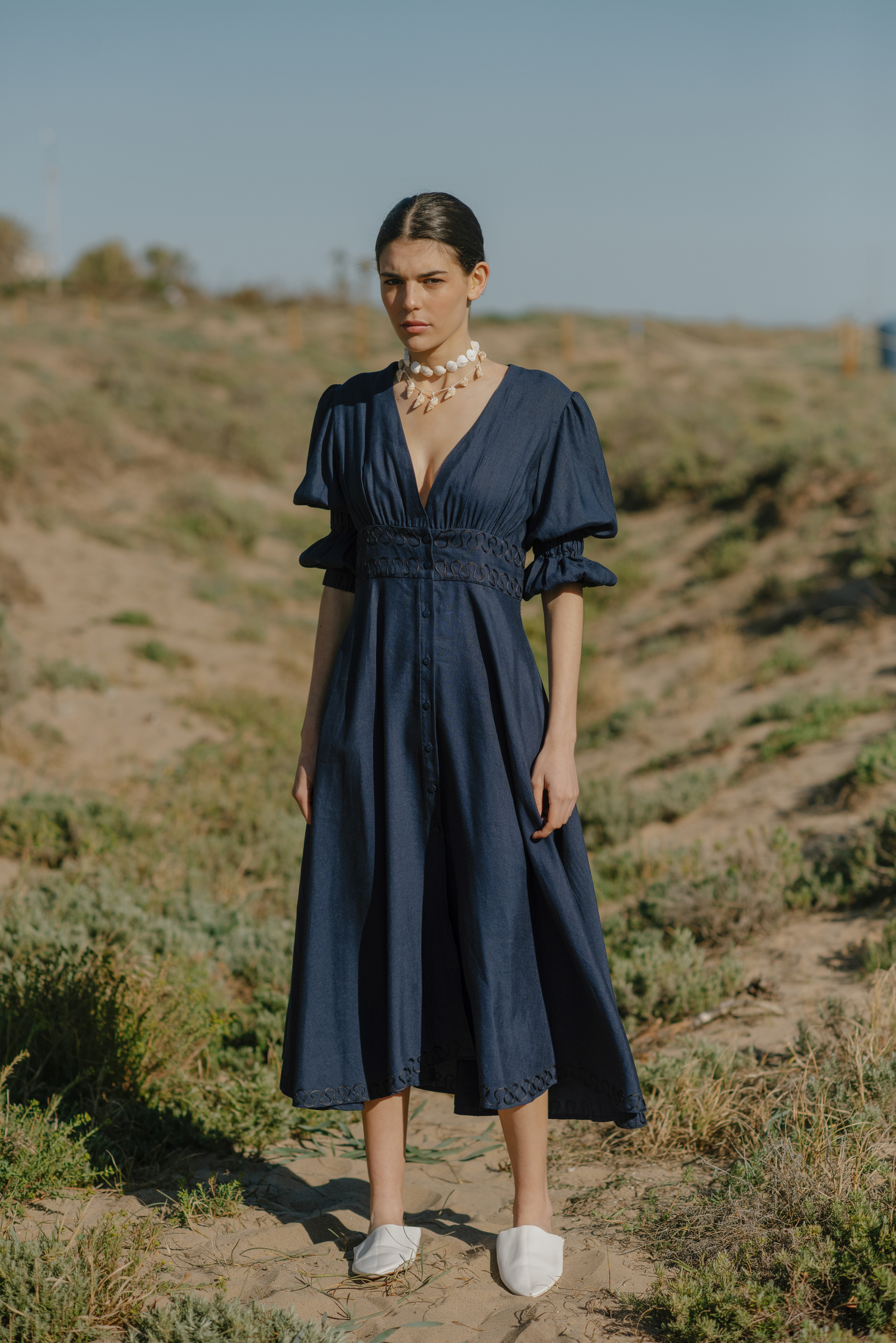 Azucar Dress - Navy by Berta Cabestany on curated-crowd.com