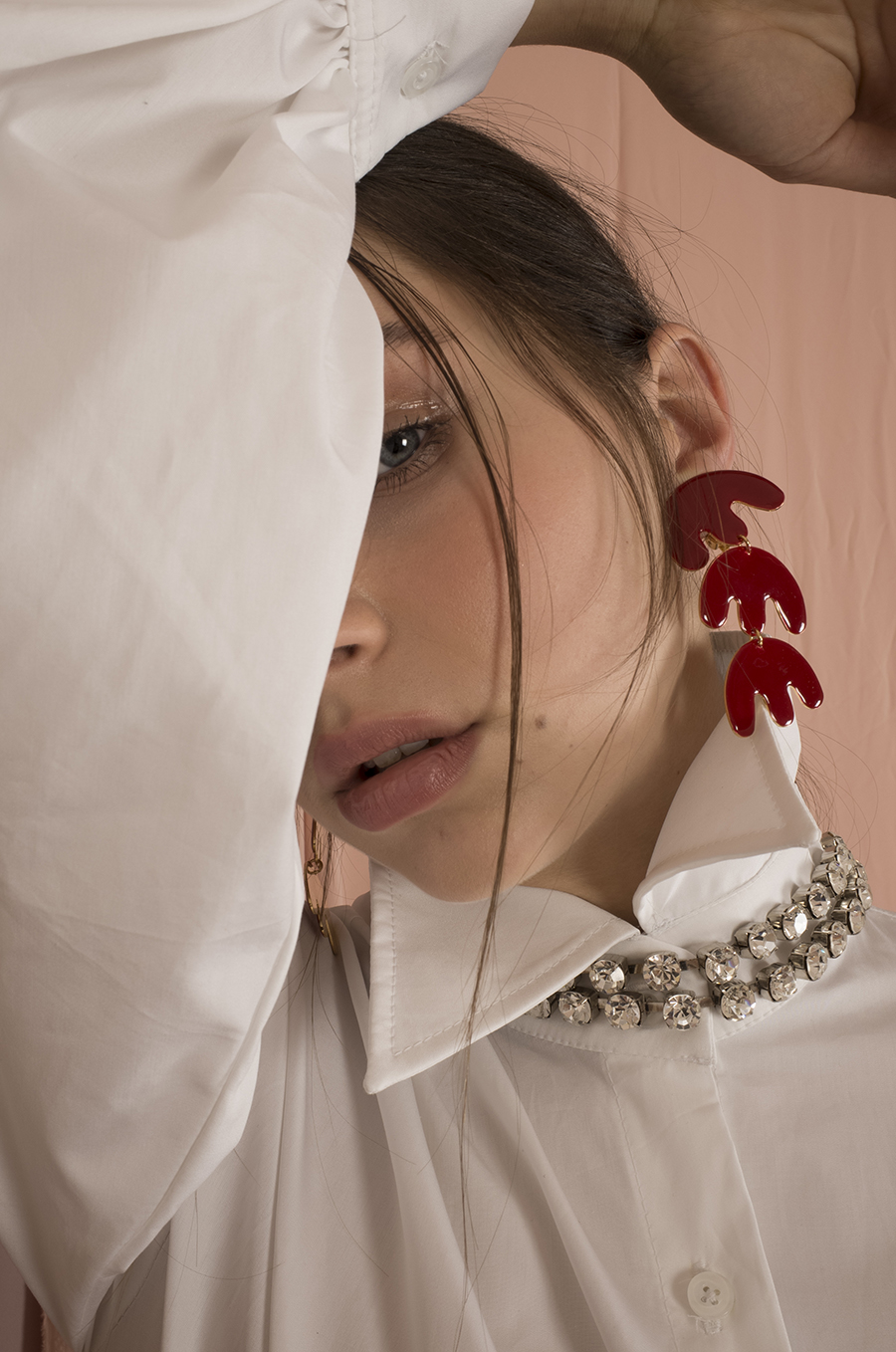 Alessa Red Earrings by Jessica K on curated-crowd.com