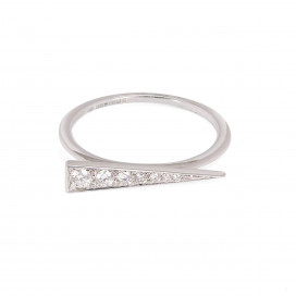 Spark Ring - Diamond White Gold by Daou Jewellery on curated-crowd.com