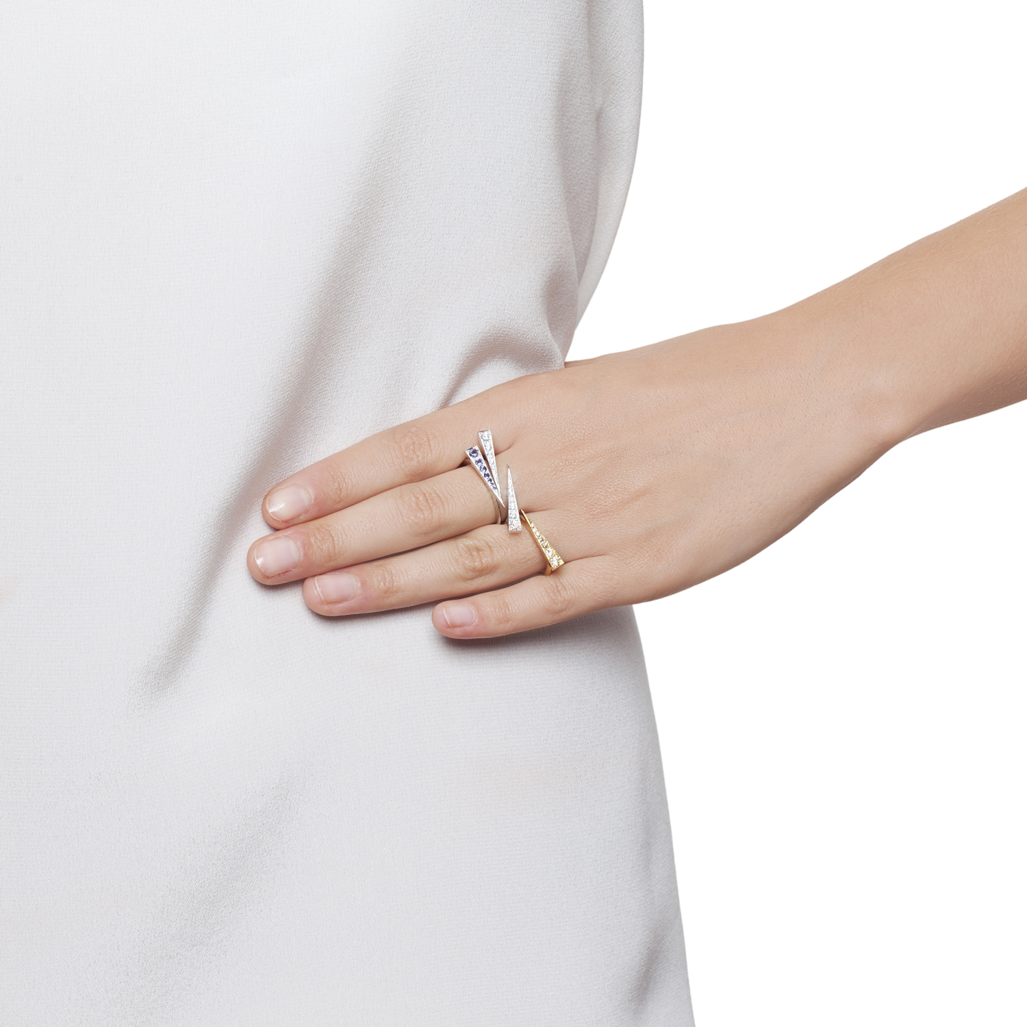 Spark Ring – Champagne  Diamond Yellow Gold by Daou Jewellery on curated-crowd.com