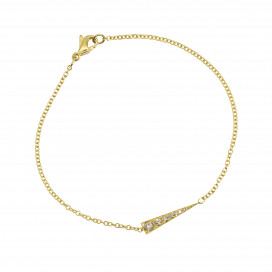 Spark Bracelet – Champagne  Diamond Yellow Gold by Daou Jewellery on curated-crowd.com