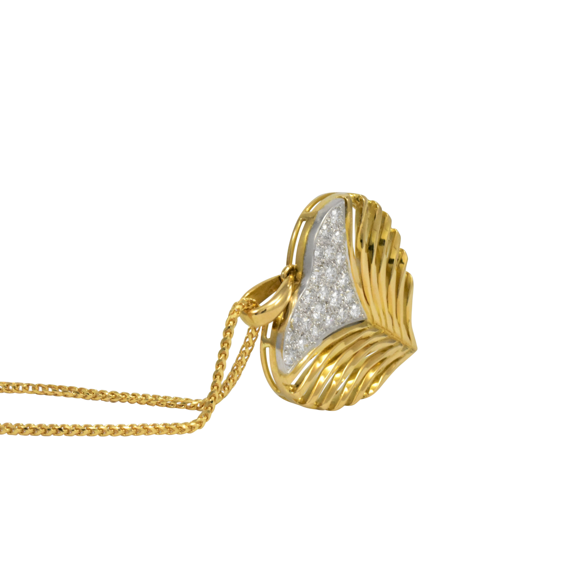 Heart Leaf Pendant by Daou Jewellery on curated-crowd.com