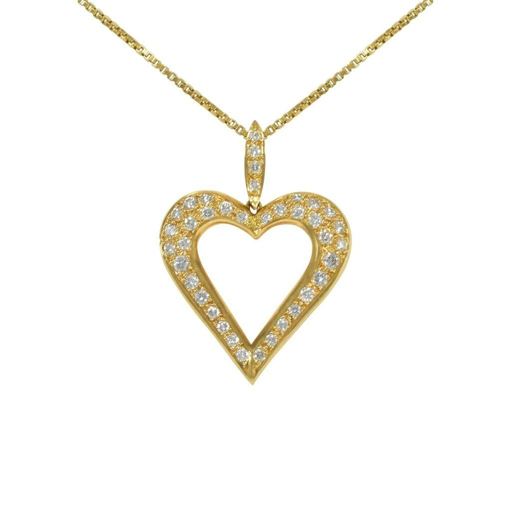 Open Heart Pendant Necklace by Daou Jewellery on curated-crowd.com