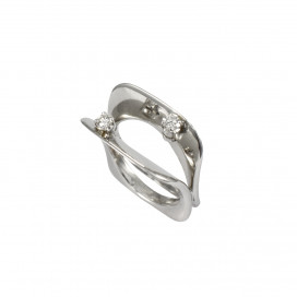 Floating Two Diamond Ring by Daou Jewellery on curated-crowd.com