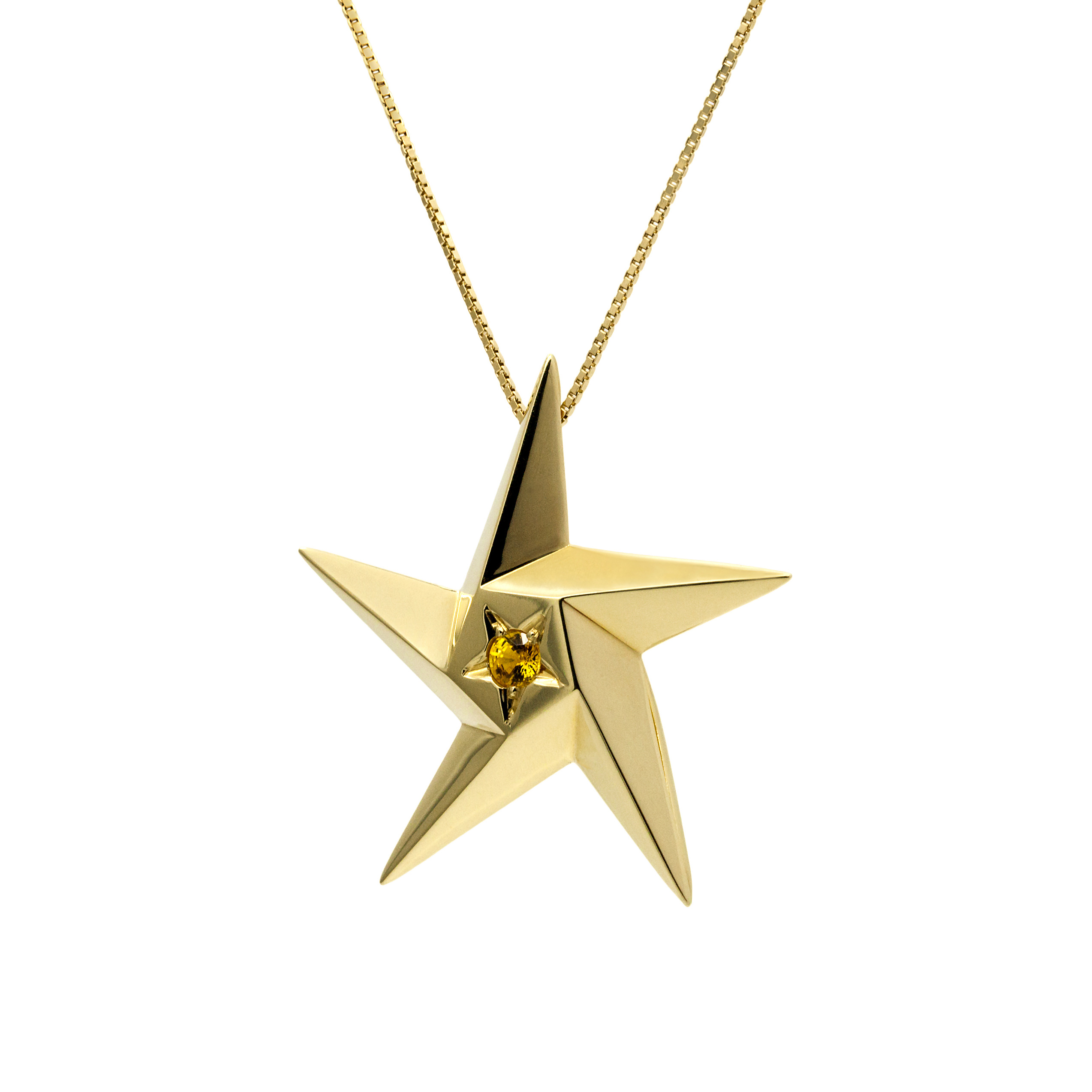 Sun Supernova Star Pendant Necklace by Daou Jewellery on curated-crowd.com