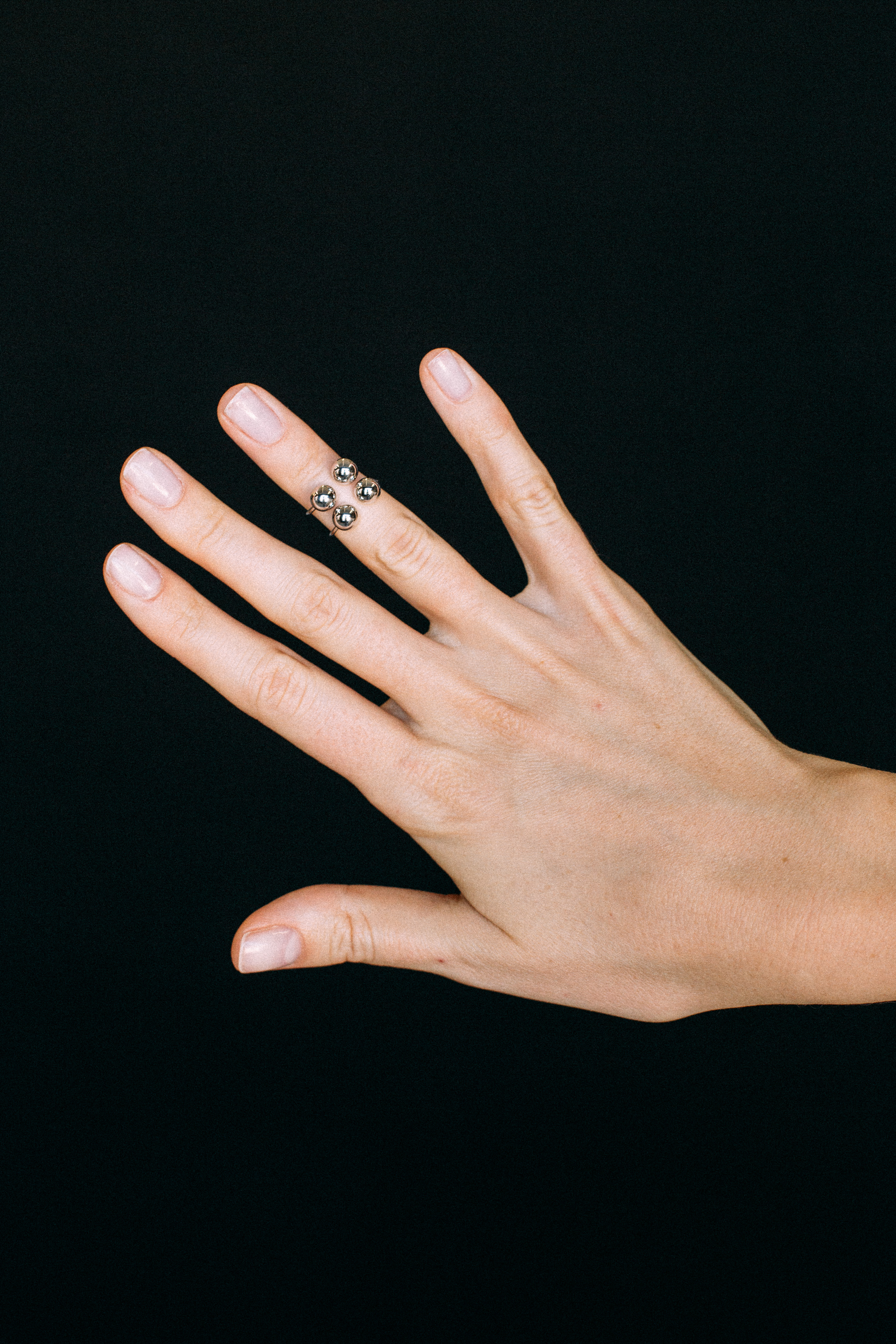 4 Orbs Ring - White Gold by Guzema Fine Jewellery on curated-crowd.com