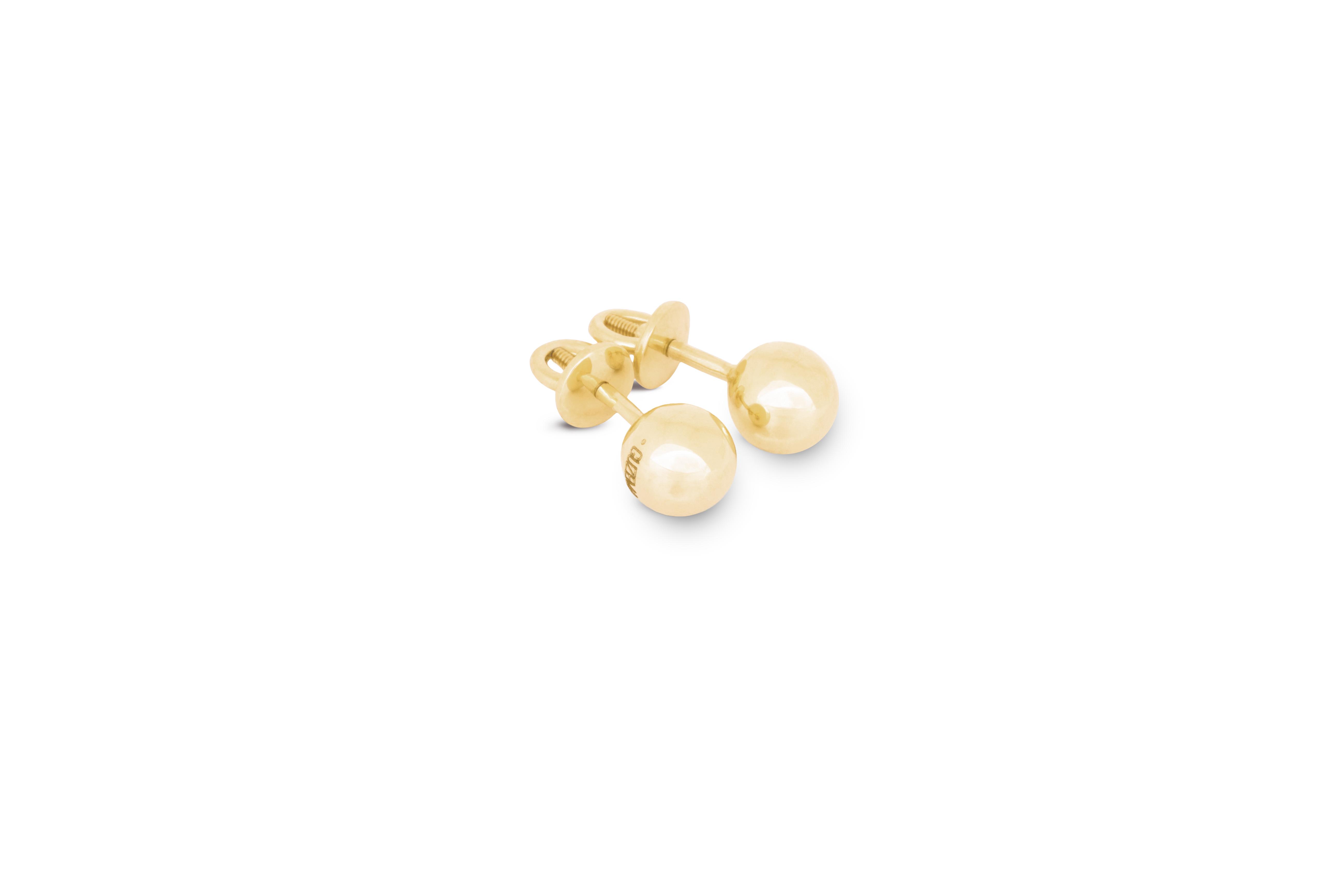 Small Orb Earrings by Guzema Fine Jewellery on curated-crowd.com
