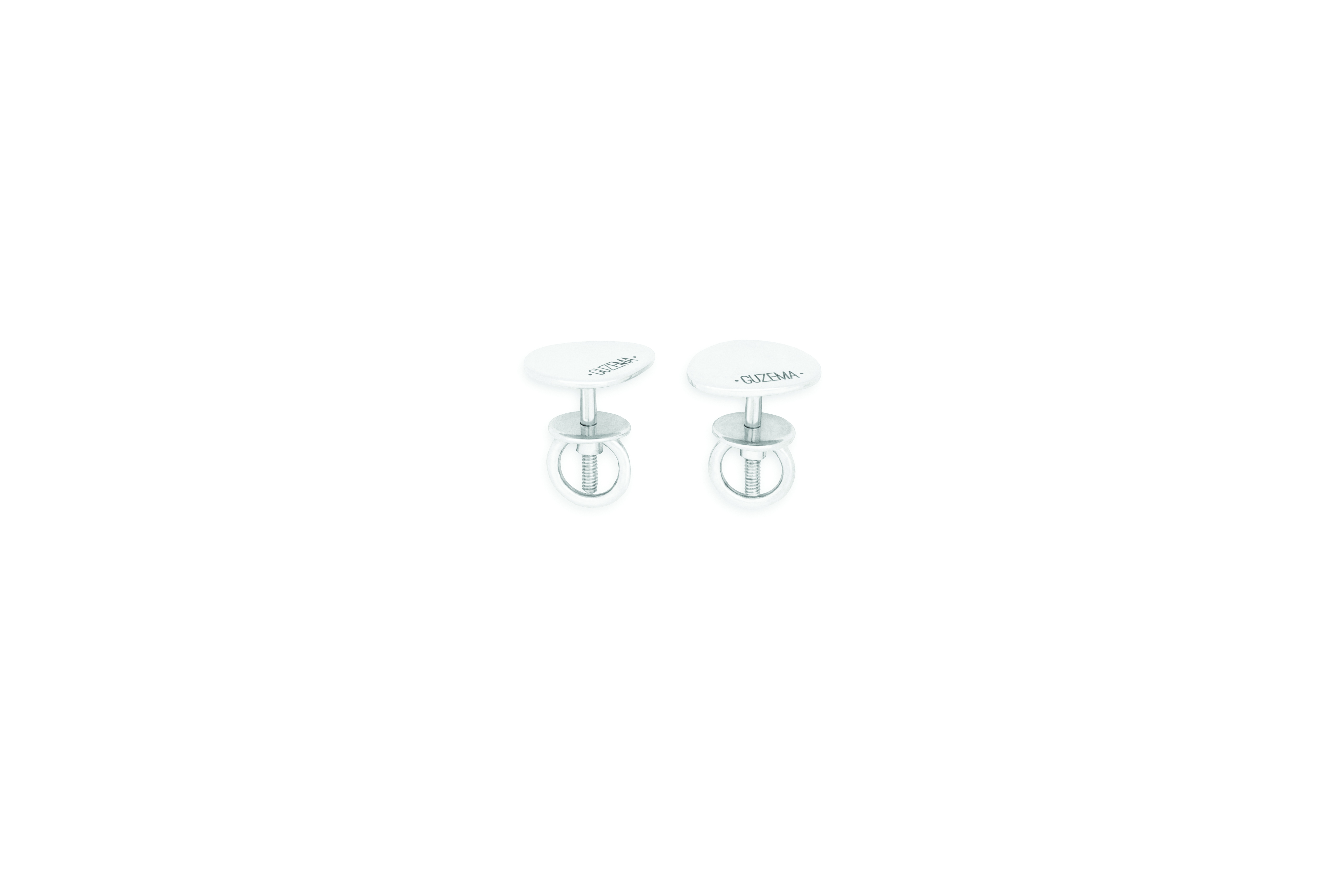 Flat Earrings - White Gold by Guzema Fine Jewellery on curated-crowd.com