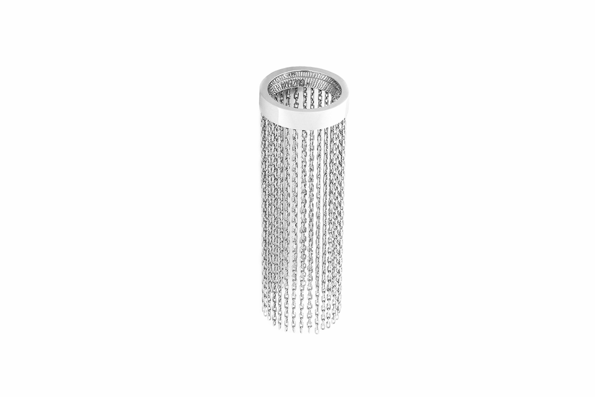 Chain Ring - White Gold by Guzema Fine Jewellery on curated-crowd.com