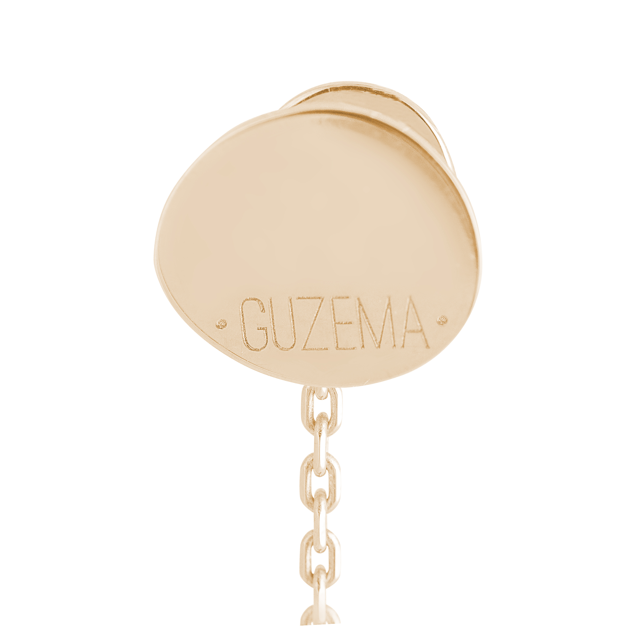2 Flats Transformer Earrings - Yellow Gold by Guzema Fine Jewellery on curated-crowd.com