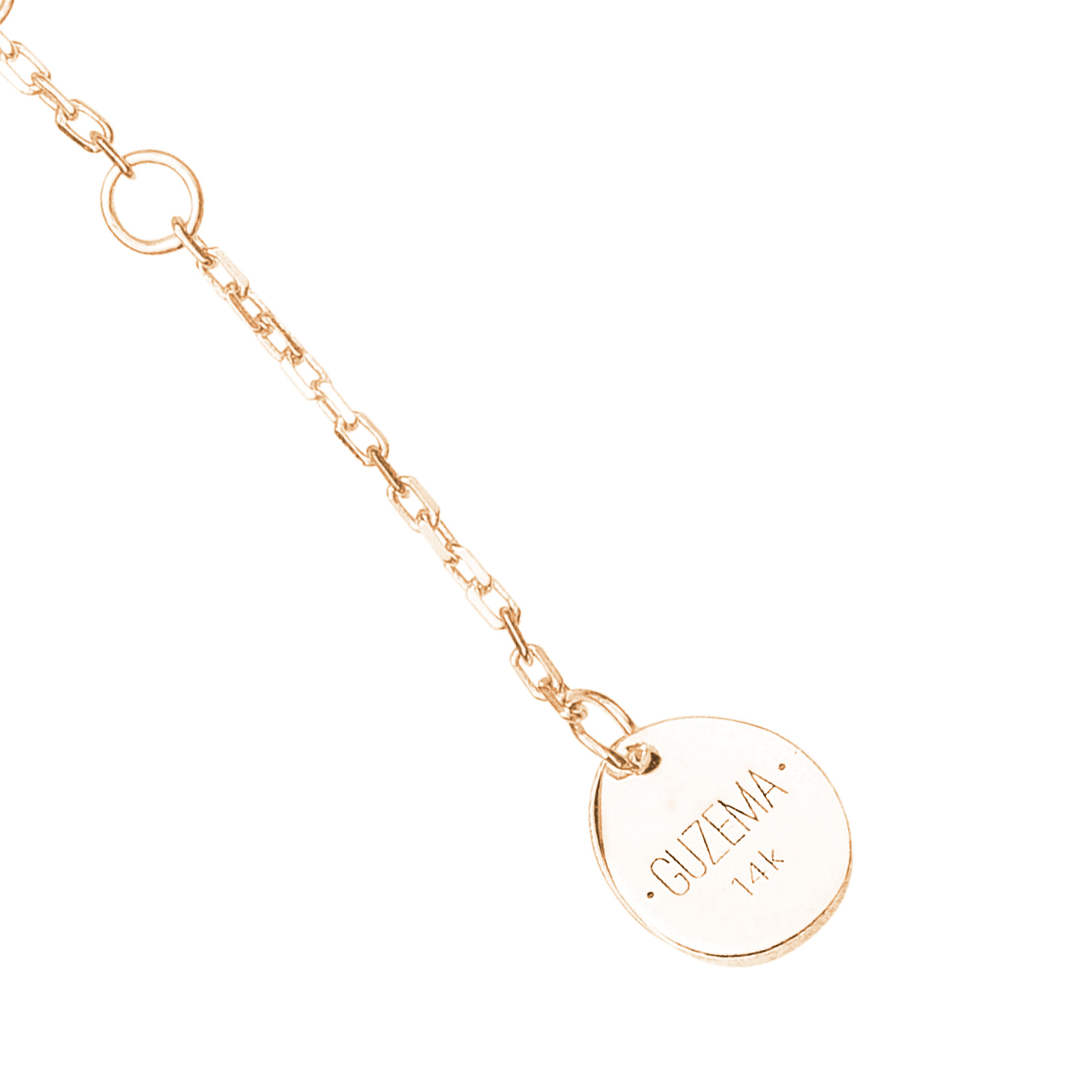 5 Flats Anklet - Yellow Gold by Guzema Fine Jewellery on curated-crowd.com