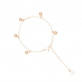 5 Orbs Anklet by Guzema Fine Jewellery on curated-crowd.com