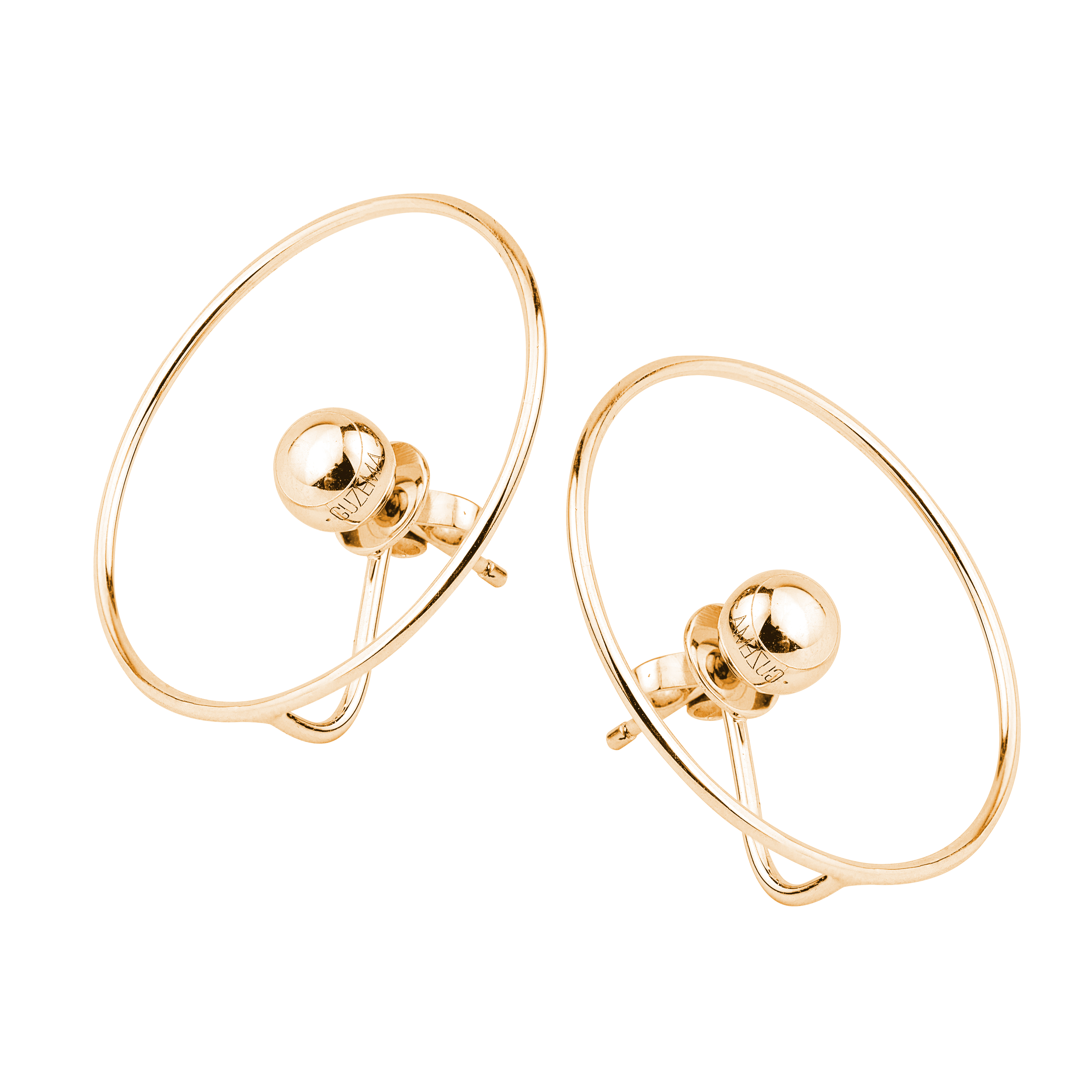 Planet Earrings - Yellow Gold by Guzema Fine Jewellery on curated-crowd.com
