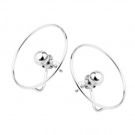 Planet Earrings - White Gold by Guzema Fine Jewellery on curated-crowd.com
