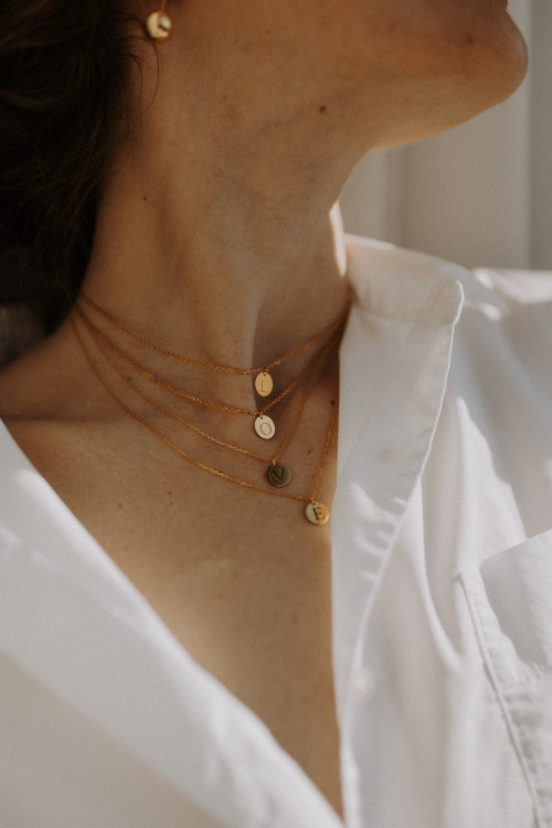 Necklace VDC 04 with Initials by Guzema Fine Jewellery on curated-crowd.com