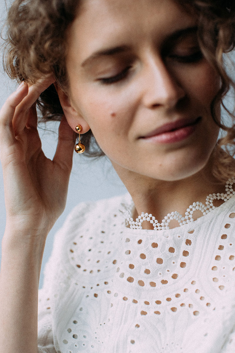 Dropdrop Еarring 46 - Yellow Gold by Guzema Fine Jewellery on curated-crowd.com