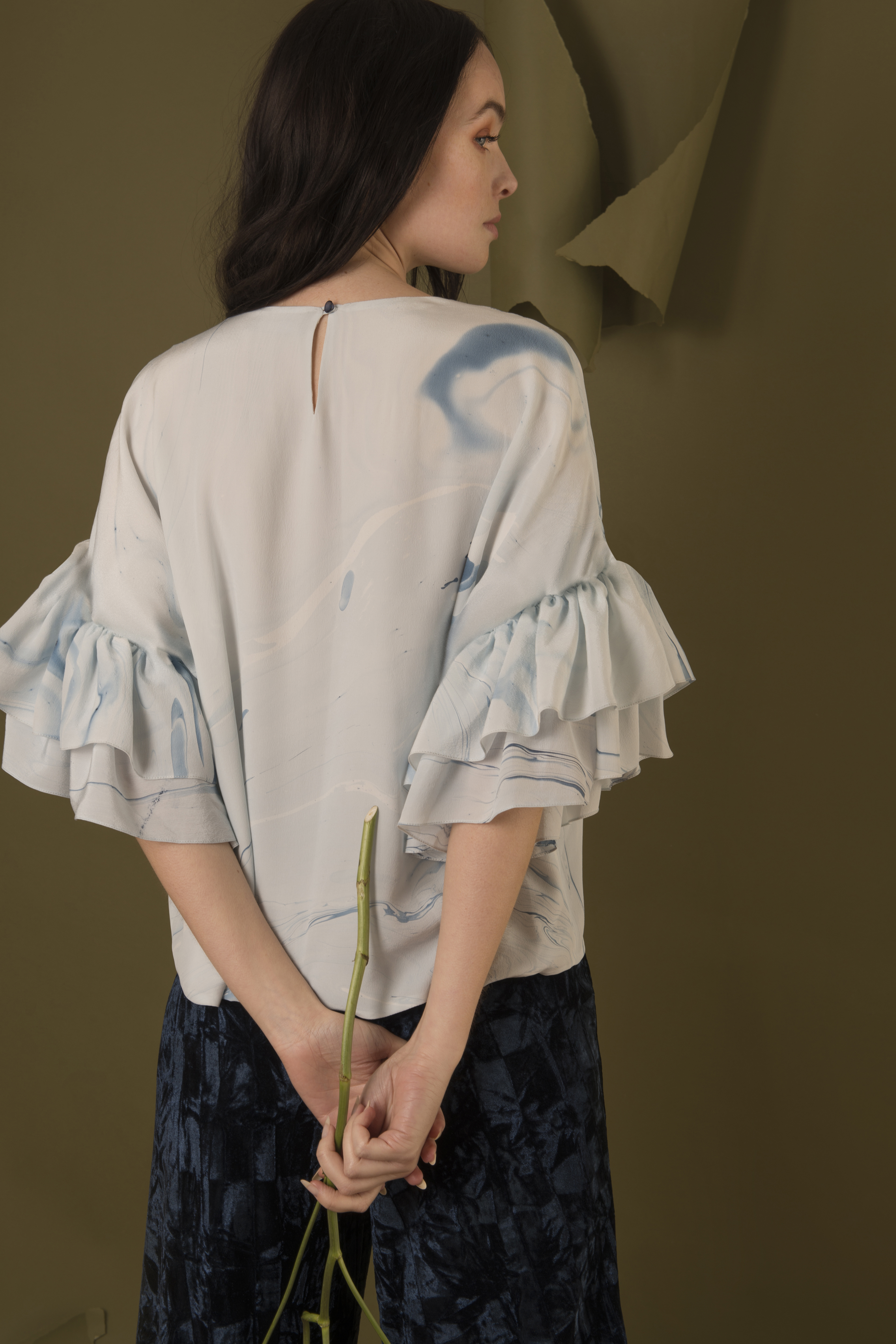 Ruffled Flounce Top by Edward Mongzar on curated-crowd.com