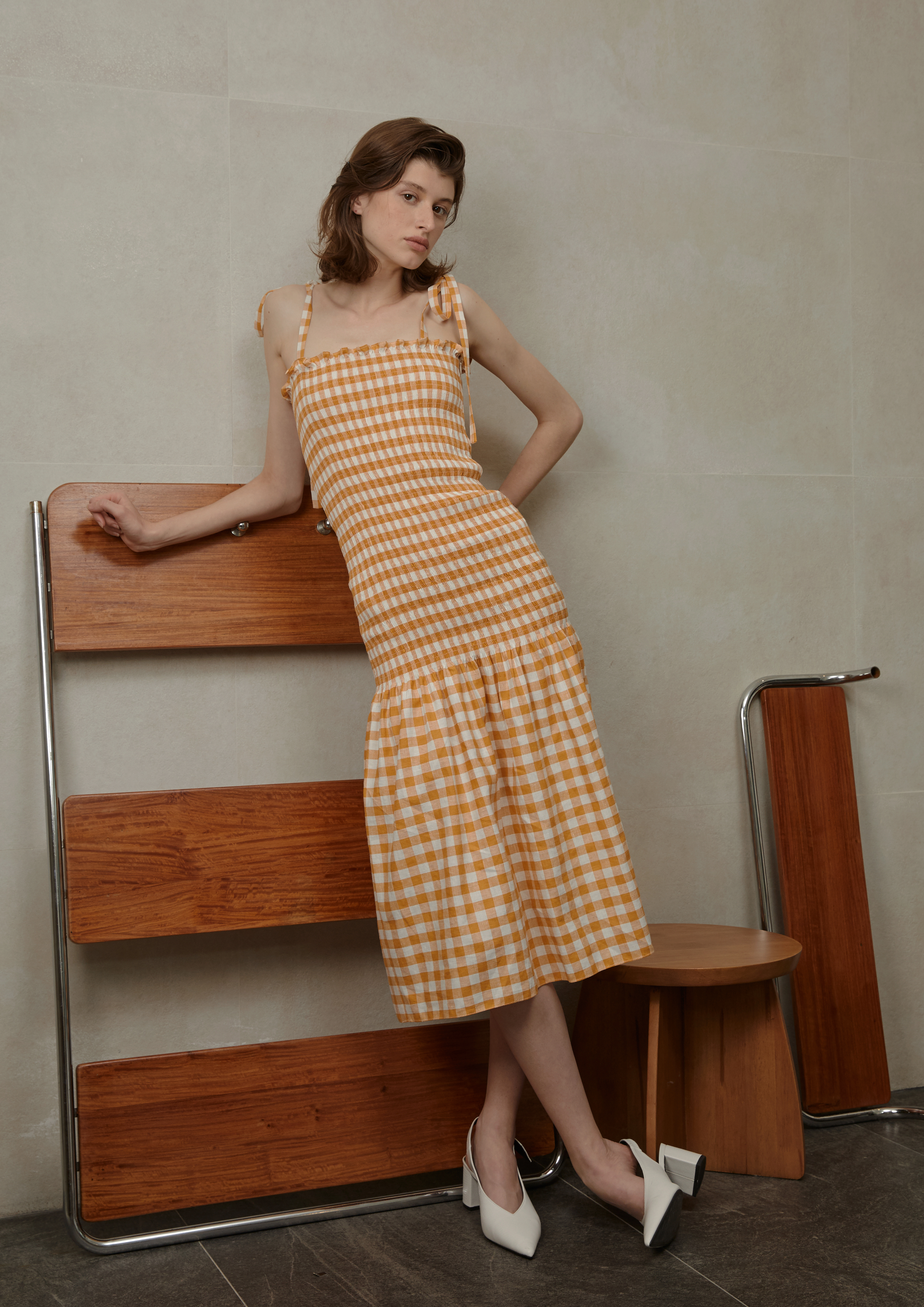 Lela Checked Dress by Voranida on curated-crowd.com
