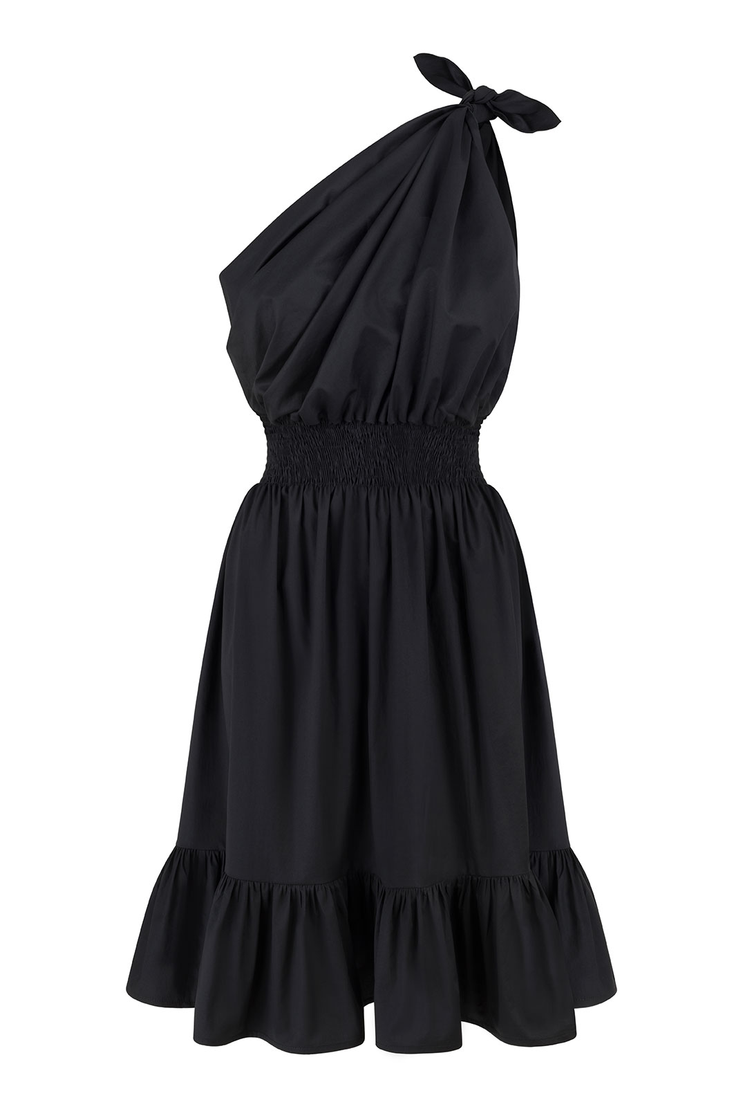 Demi One Shoulder Black Dress by Monica Nera on curated-crowd.com