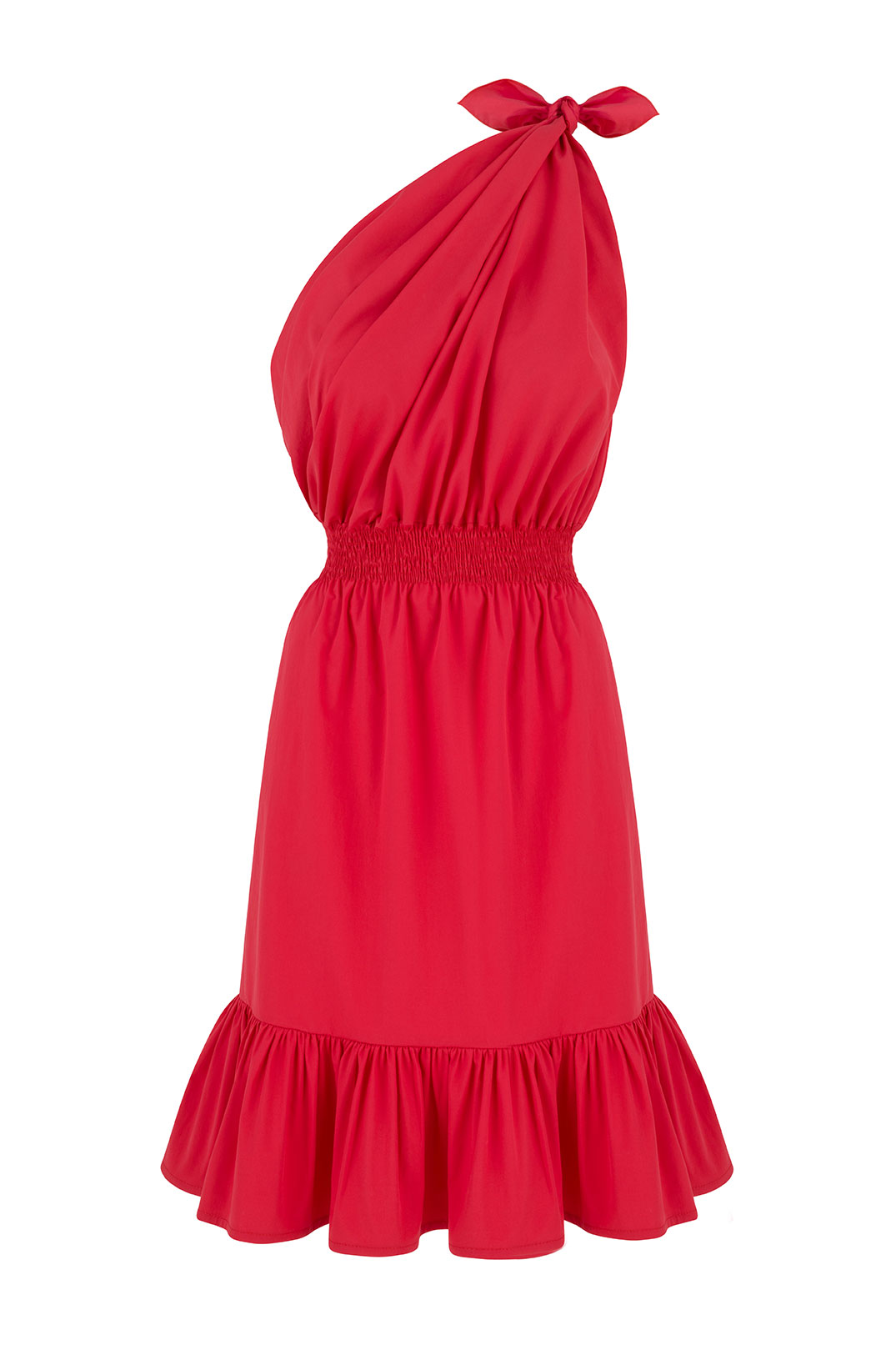 Demi One Shoulder Red Dress by Monica Nera on curated-crowd.com