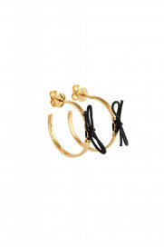 Black Rope Earrings by Guzema Fine Jewellery on curated-crowd.com
