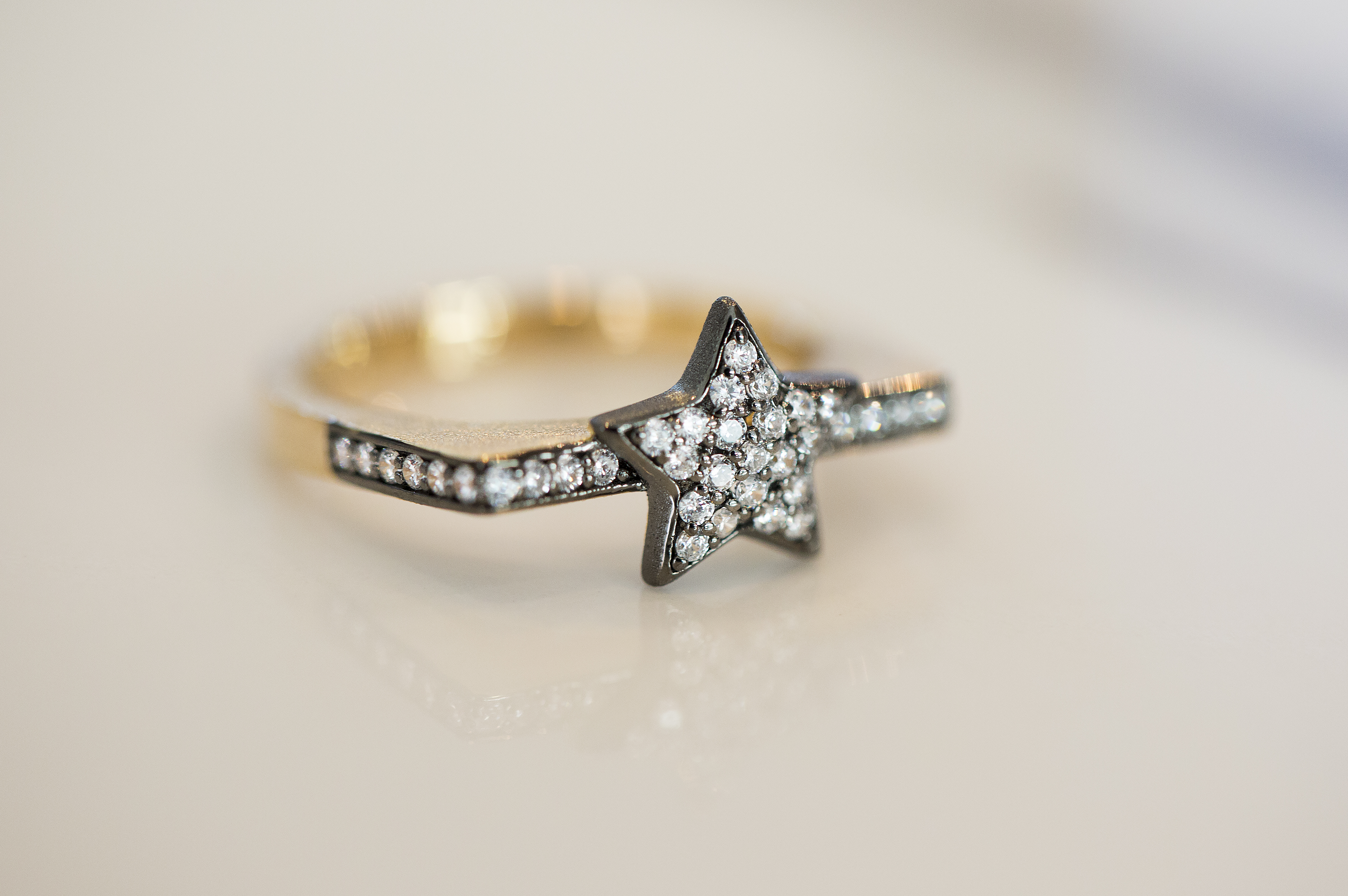 Sparkling Pave Star Ring by AMMANII on curated-crowd.com