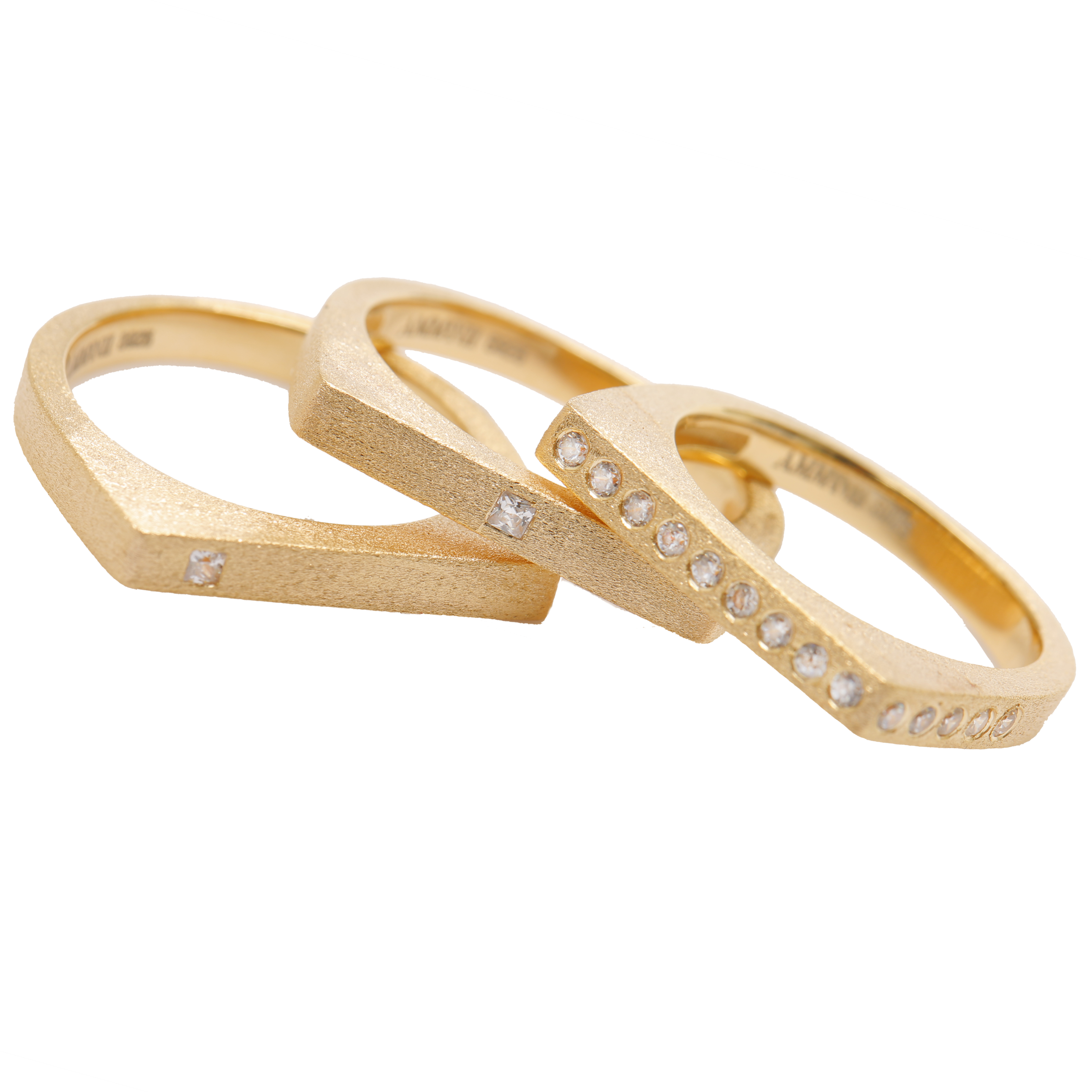 The Life Force Stacking Ring - Set of 3 by AMMANII on curated-crowd.com