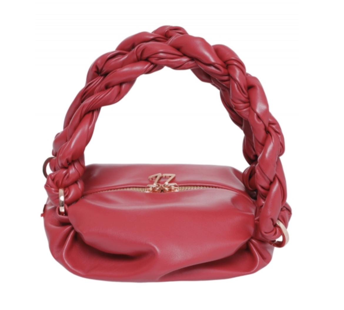 Ninika Red Tiny Tote Bag - XS by 0711 Tbilisi on curated-crowd.com
