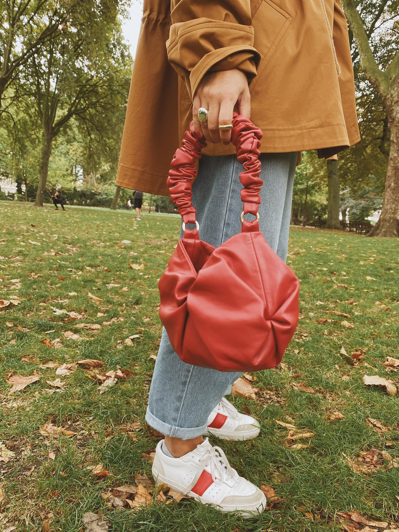 Rosh Red Oval Tote - S by 0711 Tbilisi on curated-crowd.com