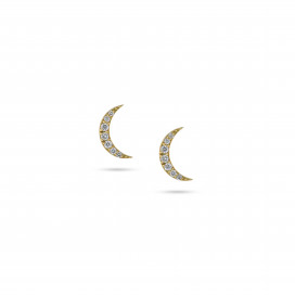Moon Studs by Meher Jewellery on curated-crowd.com