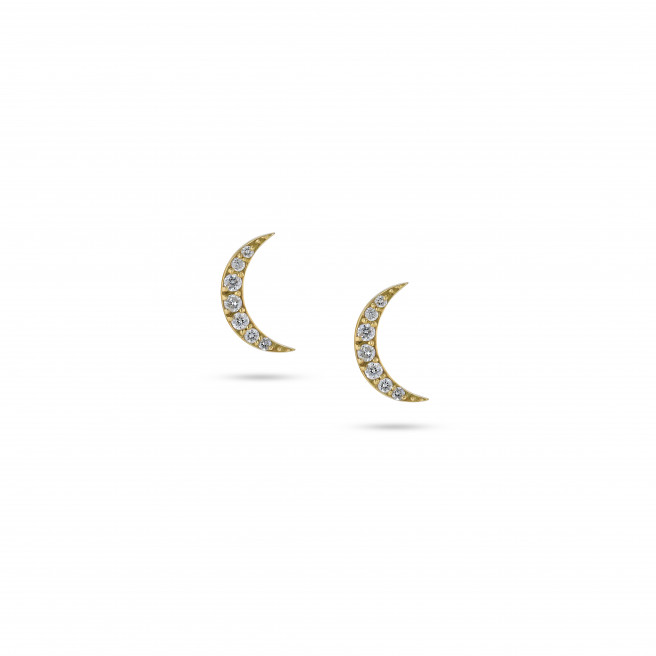 Lunar Studs by Meher Jewellery on curated-crowd.com