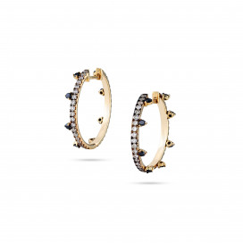Black Diamond Hoops by Meher Jewellery on curated-crowd.com